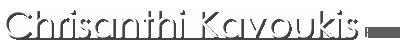Chrisanthi Kavoukis PREC Logo